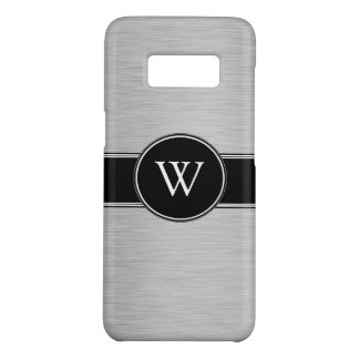 Capa Case-Mate Samsung Galaxy S8 Monograma preto de prata moderno elegante feito