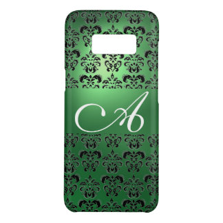 Capa Case-Mate Samsung Galaxy S8 MONOGRAMA PRETO VERDE do DAMASCO floral