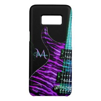 Capa Case-Mate Samsung Galaxy S8 Monograma roxo da guitarra elétrica