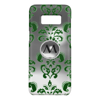 Capa Case-Mate Samsung Galaxy S8 MONOGRAMA VERDE de PEDRA PRECIOSA do DAMASCO do