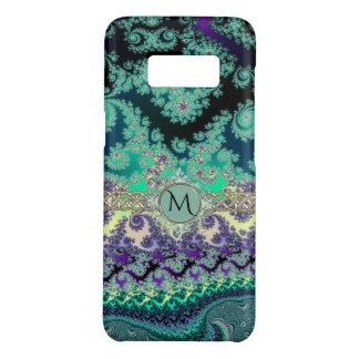 Capa Case-Mate Samsung Galaxy S8 Monograma verde do Fractal da lavanda da hortelã