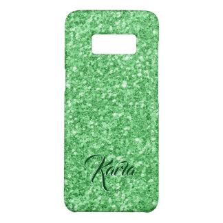 Capa Case-Mate Samsung Galaxy S8 Monograma verde moderno do brilho do falso