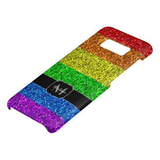 Capa Case-Mate Samsung Galaxy S8 Monograma vibrante dos sparkles da bandeira de