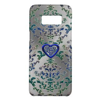 Capa Case-Mate Samsung Galaxy S8 Nó celta do coração no damasco e no metal