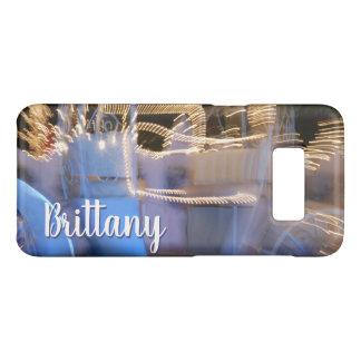 Capa Case-Mate Samsung Galaxy S8 Nome azul do costume da foto do treinador da
