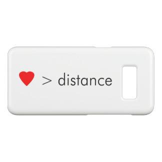 """Capa Case-Mate Samsung Galaxy S8 o """"amor é maior do que citações minimalistas da"""