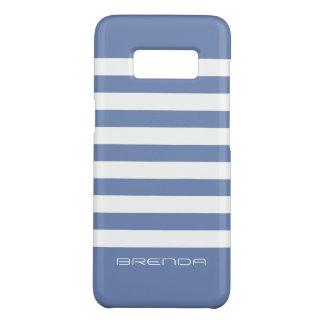 Capa Case-Mate Samsung Galaxy S8 O branco moderno listra o fundo Pó-Azul