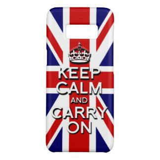 Capa Case-Mate Samsung Galaxy S8 O clássico mantem a calma na bandeira de Jack de