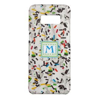 Capa Case-Mate Samsung Galaxy S8 O confete polvilha com o monograma