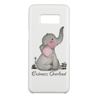 Capa Case-Mate Samsung Galaxy S8 O elefante bonito do bebê da aguarela com cora &
