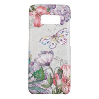 Capa Case-Mate Samsung Galaxy S8 O jardim da aguarela floresce a libélula da