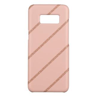 Capa Case-Mate Samsung Galaxy S8 o pêssego pastel do brilho cor-de-rosa do ouro