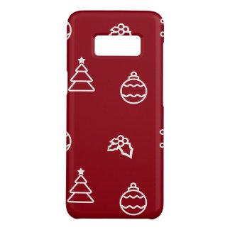 Capa Case-Mate Samsung Galaxy S8 O teste padrão do Natal mim