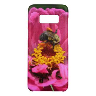 Capa Case-Mate Samsung Galaxy S8 O Zinnia cor-de-rosa e Bumble a abelha