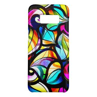 Capa Case-Mate Samsung Galaxy S8 Olhar abstrato colorido do vitral