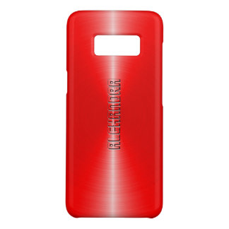 Capa Case-Mate Samsung Galaxy S8 Olhar de aço inoxidável vermelho metálico moderno