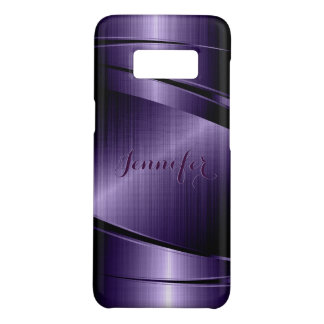 Capa Case-Mate Samsung Galaxy S8 Olhar de alumínio escovado metálico brilhante roxo