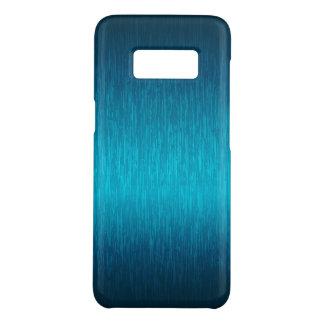 Capa Case-Mate Samsung Galaxy S8 Olhar de alumínio escovado Turquesa-Azul metálico
