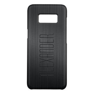 Capa Case-Mate Samsung Galaxy S8 Olhar metálico de alumínio escovado preto