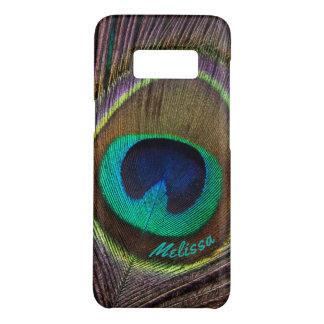 Capa Case-Mate Samsung Galaxy S8 Olho bonito da pena do pavão, seu nome