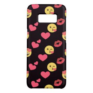 Capa Case-Mate Samsung Galaxy S8 os corações doces bonitos do amor do emoji beijam