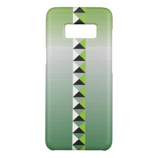 Capa Case-Mate Samsung Galaxy S8 Os pontos e o falso da pirâmide escovaram de aço