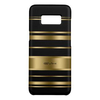Capa Case-Mate Samsung Galaxy S8 Ouro moderno & teste padrão preto das listras