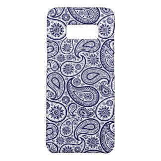 Capa Case-Mate Samsung Galaxy S8 Paisley azul sobre o fundo branco