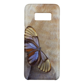 Capa Case-Mate Samsung Galaxy S8 pena egípcia do ganso da borboleta da Vidro-asa