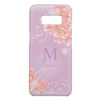 Capa Case-Mate Samsung Galaxy S8 peônia cor-de-rosa floral da aguarela chique