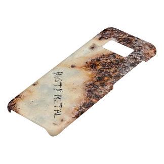 Capa Case-Mate Samsung Galaxy S8 Personalize a textura oxidada marrom legal do