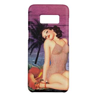 Capa Case-Mate Samsung Galaxy S8 pino havaiano da flor da praia tropical acima da