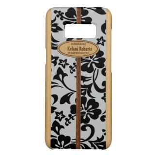 Capa Case-Mate Samsung Galaxy S8 Prancha de madeira do monograma do falso havaiano