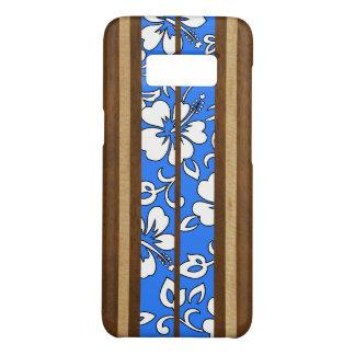 Capa Case-Mate Samsung Galaxy S8 Prancha havaiana da madeira do falso do hibiscus