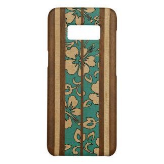 Capa Case-Mate Samsung Galaxy S8 Prancha havaiana da madeira do falso do vintage de