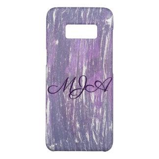 Capa Case-Mate Samsung Galaxy S8 Prata roxa desiludida | da ameixa do monograma da