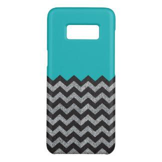 Capa Case-Mate Samsung Galaxy S8 Preto e exemplo de Chevron Samsung do brilho da