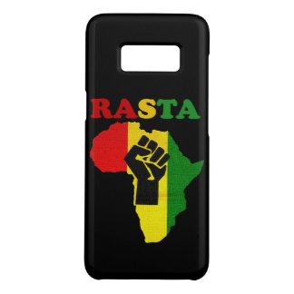 Capa Case-Mate Samsung Galaxy S8 Punho do poder preto de Rasta sobre África