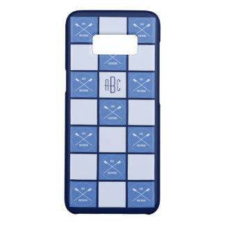 Capa Case-Mate Samsung Galaxy S8 Quadrados azuis oarsome do monograma dos Rowers