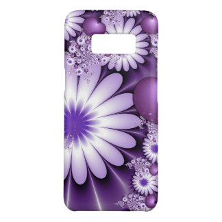 Capa Case-Mate Samsung Galaxy S8 Queda no Fractal das flores & dos corações do