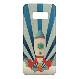 Capa Case-Mate Samsung Galaxy S8 Rocket colorido com raios azuis e fumo branco