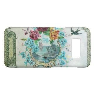 Capa Case-Mate Samsung Galaxy S8 ROMANTICA /ROSES, FLORES AZUIS COM branco do