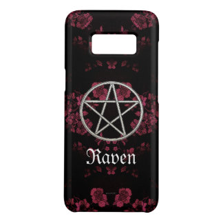 Capa Case-Mate Samsung Galaxy S8 Rosa eterno gótico do Pentacle