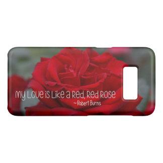 Capa Case-Mate Samsung Galaxy S8 Samsung encaixota mal lá minha rosa vermelha do