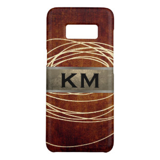 Capa Case-Mate Samsung Galaxy S8 Scribble abstrato Brown rústico do brilho do ouro
