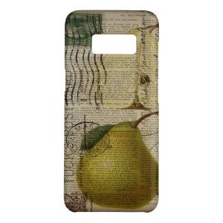 Capa Case-Mate Samsung Galaxy S8 scripts a pera botânica da arte do vintage