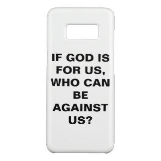 "Capa Case-Mate Samsung Galaxy S8 ""Se o deus é para nós…"" Caixa da galáxia S8 de"