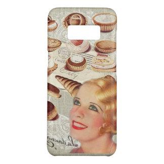 Capa Case-Mate Samsung Galaxy S8 senhora retro Paris da pastelaria do cupcake da