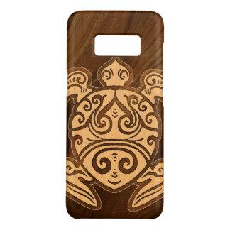 Capa Case-Mate Samsung Galaxy S8 Tartaruga havaiana de madeira do falso de Honu do