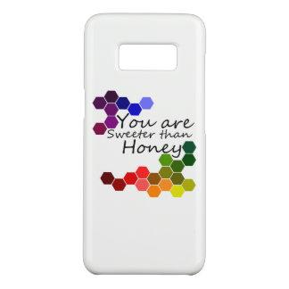 Capa Case-Mate Samsung Galaxy S8 Tema do mel com palavras positivas